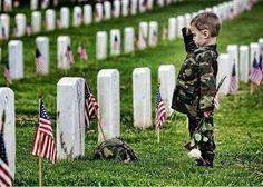 sad that this little boy lost his parent