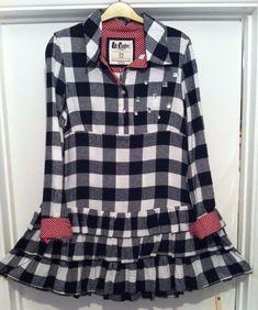 Beautiful LEE COOPER VINTAGE Check Shirt Dress. UK Size 12. Super Live.