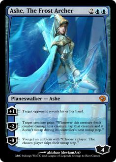 Planeswlker: Ashe, The Frost Archer by Nelsonngyn0.deviantart.com on @deviantART