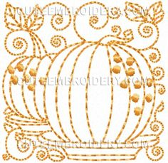 Free Embroidery Design: Fall