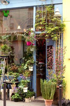 Best paris plant and flower shops bleuet coquelicot store design цветочный магазин Display Design, Store Design, Vitrine Design, Shop Fronts, Garden Shop, Shop Front Design, Shop Window Displays, Outdoor Gardens, Vintage Shops