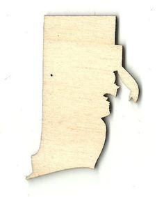 Rhode Island Unfinished Laser Cut Wood Shape