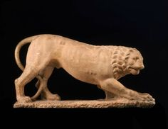 Funerary lion, Greek, about 390 B.C. Museum of Fine Arts, Boston.