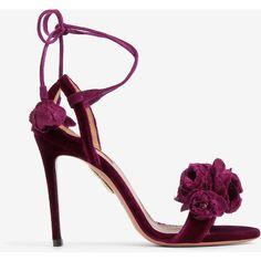 Aquazzura Moulantes Ouvert Sandales Orteil - Rose Et Violet HwAKa