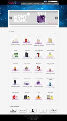 diseño y programación del sitio VENUS Y MARTE, tienda virtual de perfumes, joomla, css3