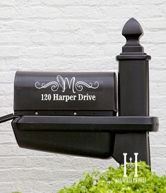 Street Address mailbox Decal Monogram, curb appeal, outdoor vinyl, new home owner gift. $15.00, via Etsy.