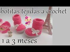 botitas a crochet para bebe - YouTube Crochet Bebe, Knit Crochet, Crochet Hats, Baby Girl Shoes, Kid Shoes, Cutwork Embroidery, Crochet Videos, Baby Booties, Free Pattern
