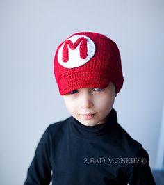 Super Mario Hat Super Mario Hat Boys Hat winter by 2badmonkies