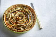 Spiraaltaart met wortel, pastinaak en aubergine - Boodschappen