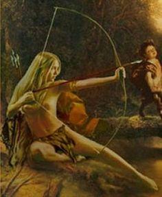 Demeter was volgens de Griekse mythologie de godin van de vruchtbaarheid. Demeter was een van de dochters van Cronus die door hem verslonden werden direct na de geboorte. Zeus was de enige die aan dit lot ontkwam. Toen Zeus volwassen was dwong hij Cronus de onsterfelijke kinderen terug te geven. Uit haar verbintenis met Zeus kreeg Demeter een dochter, van wie zij heel veel hield: Persiphone. Toen Periphone door Hades werd meegenomen naar de onderwereld was Demeter ontroostbaar.