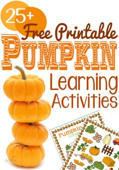 Here are Free Printable non-scary Pumpkin Learning Activities for all your October lessons! There are so many options and more are added regularly, so pin this to keep up with the latest! Autumn Activities For Kids, Fall Preschool, Preschool Learning, In Kindergarten, Preschool Activities, Learning Centers, Preschool Printables, Preschool Classroom, Pumpkin Printable