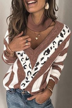ZOGAA 2019 New Women Big Deep V-neck Flower Sweaters Ladies Knitted Cashmere