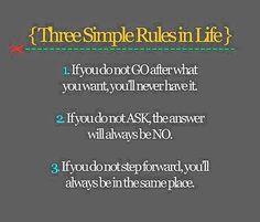 Three Simple Rules in Life!! http://iarman.myrandf.biz