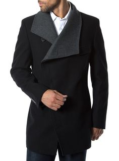 """Venice"" double breasted wool coat from 7 Diamonds"