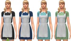 Waitress & Maid Dress with Apron at Around the Sims 4 via Sims 4 Updates