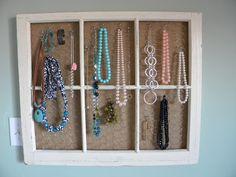 Jewelry Organizer from an old window frame Belle Beau