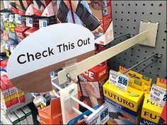 HD Strip Merchandiser Arm for Pegboard Main Speech Balloon, Bubbles, Arms, Retail, Concept, Shelf, Design, Shelving