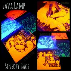 "rainbowsandunicornscrafts:  DIY 2 Ingredient Glow in the Dark Lava Lamp Bag Recipe from Growing a Jeweled Rose. She has her own easy cheap non-toxic recipe for ""glowing homemade water colors"" that doesn't contain highlighters or glow in the dark sticks that you break open."