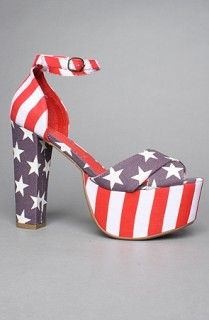 Jeffrey Campbell El Carmen Sandals in Stars and Stripes