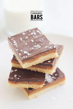 Dark Chocolate Caramel Bars