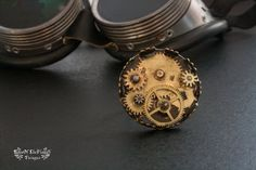 Steampunk ring jewelry. Gear ring jewelry. Gears ring jewelry. Copper ring jewelry. Adjustable ring jewelry - pinned by pin4etsy.com