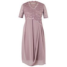 Buy Chesca Scallop Lace Dress, Dark Lavender Online at johnlewis.com