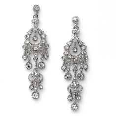 Rhinestone Dangle Chandelier Earrings for Prom, Bridesmaids & Weddings 1243