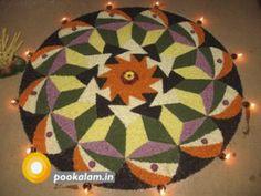 Onam Pookalam Design Rangoli Designs Diwali, Kolam Designs, Onam Festival Kerala, Onam Greetings, Onam Pookalam Design, Onam Wishes, Happy Onam, Flower Rangoli, Kinds Of Colors