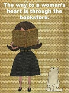The way to a woman's heart is through the bookstore.