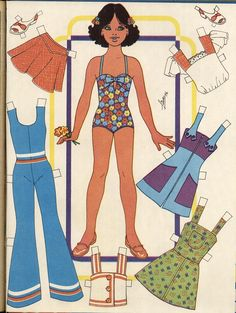 Healthy living catalog by amerimark catalog online order store Paper Clothes, Doll Clothes, Paper Toys, Paper Crafts, Paper Dolls Printable, Kawaii Doodles, Dress Up Dolls, Vintage Paper Dolls, Retro Toys