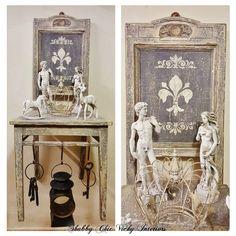 Restyling  Creazione Sedia Consolle Patina Shabby Chic Vicky Interiors