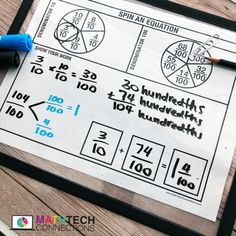 Adding Fractions with Denominators 10 and 100 – Math Tech Connections