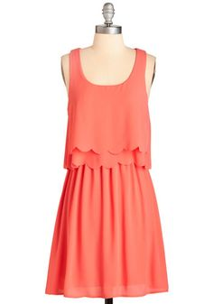 Teach Me Your Sways Dress. Pals often seek your stylish wisdom, and today youre offering an adorable lesson with each twirl in this coral-pink frock! #coral #modcloth