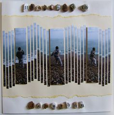 THIS is why I scrapbook! Great idea for beach pictures on scrapbook page.