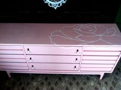 Modern Way to spruce up an old piece of furniture