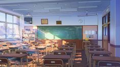 This HD wallpaper is about anime scenic, classroom, sunshine, building, Original wallpaper dimensions is file size is Anime Backgrounds Wallpapers, Anime Scenery Wallpaper, 1080p Wallpaper, Landscape Wallpaper, Backgrounds Free, Episode Interactive Backgrounds, Episode Backgrounds, Scenery Background, Animation Background
