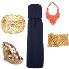 Maxi Gold, created by amydellinger on Polyvore