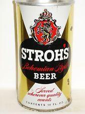 STROHS ZIP TOP Beer Can