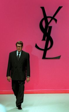 The man behind the design. Yves Saint Laurent.
