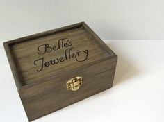Personalised distressed wooden box  Wooden box  by MakeMemento