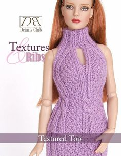Knitting pattern for 16 doll Tyler Wentworth by DBDollPatterns, $6.00