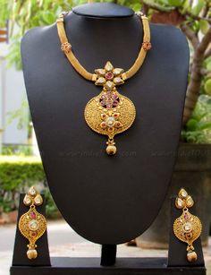 Beautiful Kundan & Polki Necklace Set