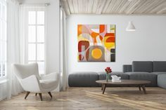 Mixed media on canvas, x by Tricia Strickfaden Mixed Media Canvas, Floor Chair, Modern Art, Original Art, Abstract Art, The Originals, Artist, Furniture, Home Decor