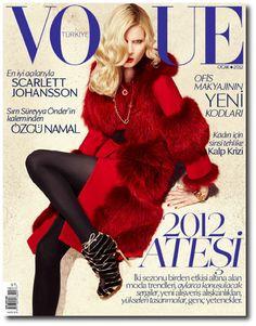 Vogue Turkey January 2012 Cover - Elsa Sylvan