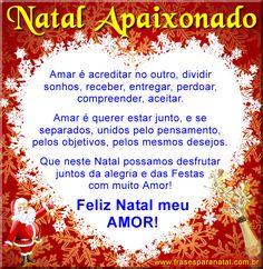 mensagem de natal para namorado, feliz natal meu amor