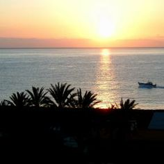 Romantische Abendstimmung auf El Cabrito - La Gomera