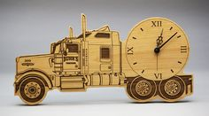 Check out the great detail in this awesome custom made truck clock