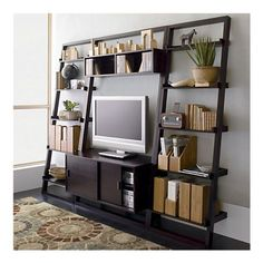 media center with tv and fun decorations #designisneverdone #onekingslane