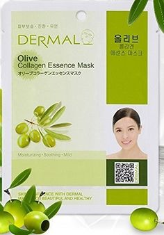 Dermal Korea Collagen Essence Mask Olive 10 pack -- Read more reviews of the product by visiting the link on the image. (Note:Amazon affiliate link)