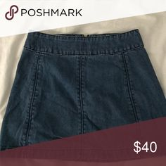 free people jean skirt love but doesn't fit anymore :( Free People Skirts Mini